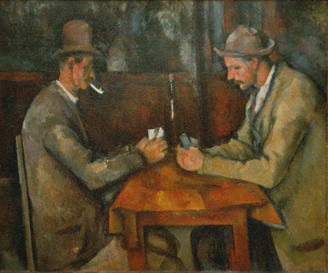 """I Giocatori di Carte"" di Paul Cézanne (Olio su Tela, cm. 47 x 56, 1890-1895)"