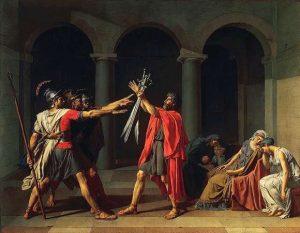 Il giuramento degli Orazi di Jacques-Louis David