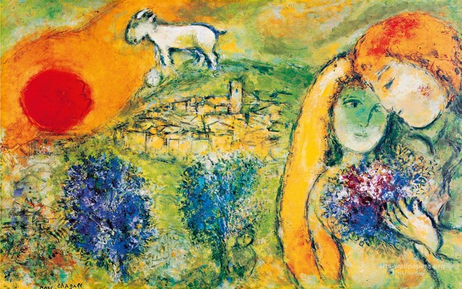 """CHAGALL. LOVE AND LIFE"""