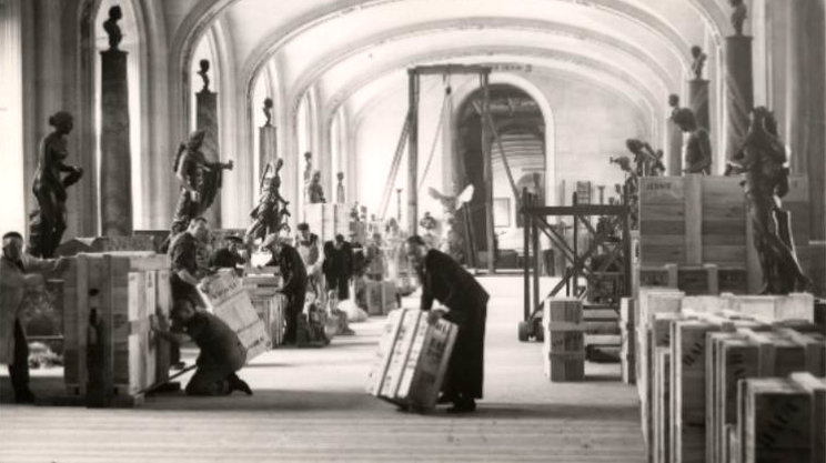 Evacuazione del Louvre