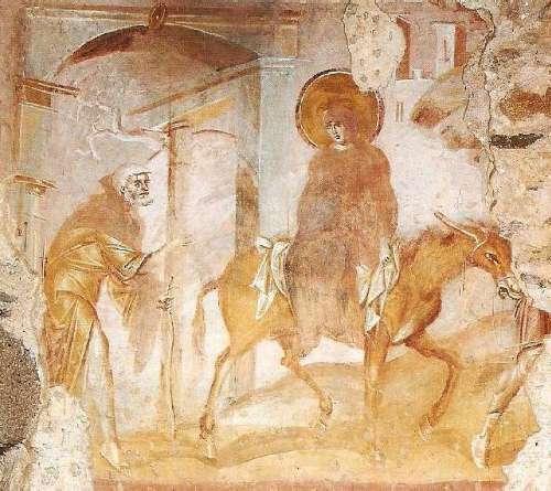 Viaggio a Betlemme, parte dell'affreschi di Castelseprio