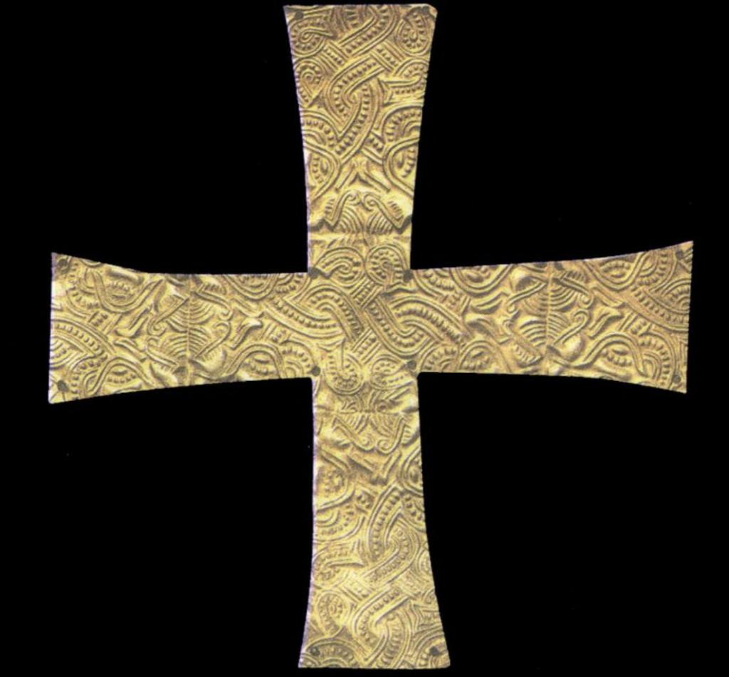 Crocetta aurea nastriforme, VII sec., Verona, Museo-Castelvecchio
