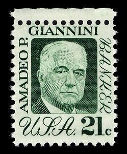 Francobollo statunitense del 1973 dedicato ad Amadeo Giannini