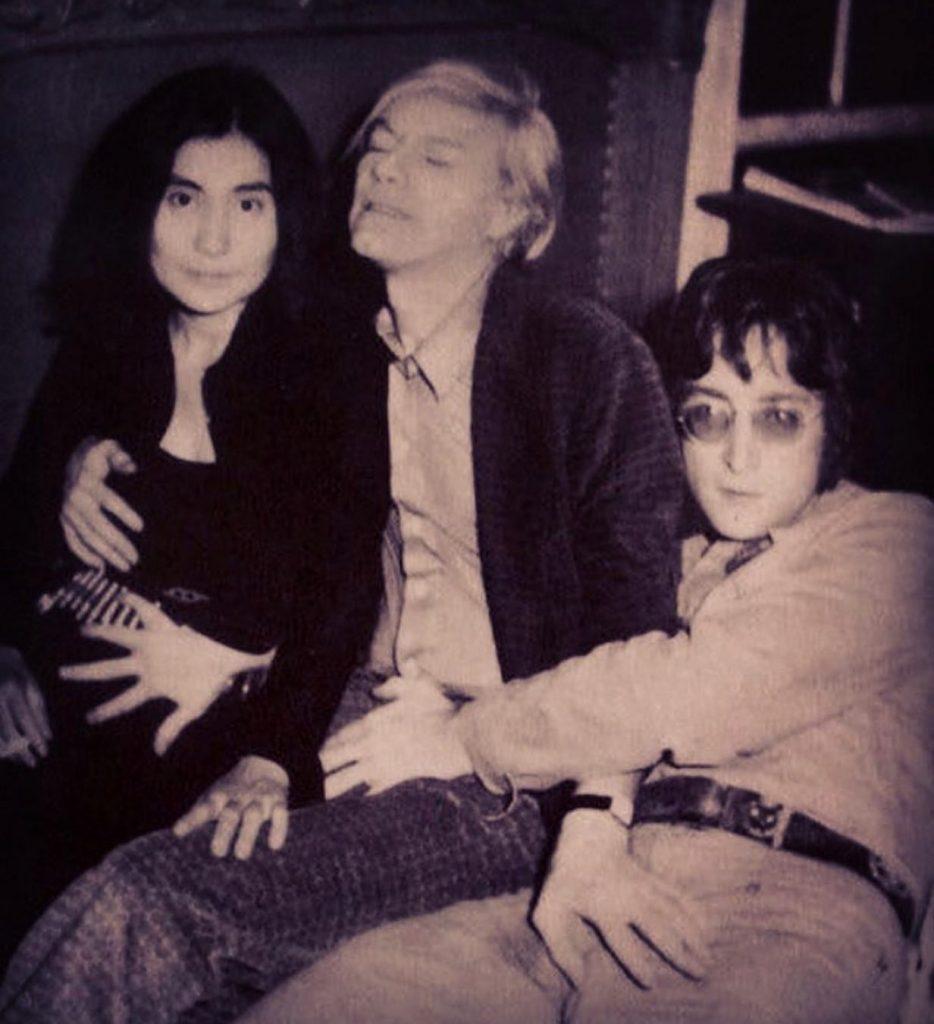 Andy Warhol, Yoko One e John Lennon