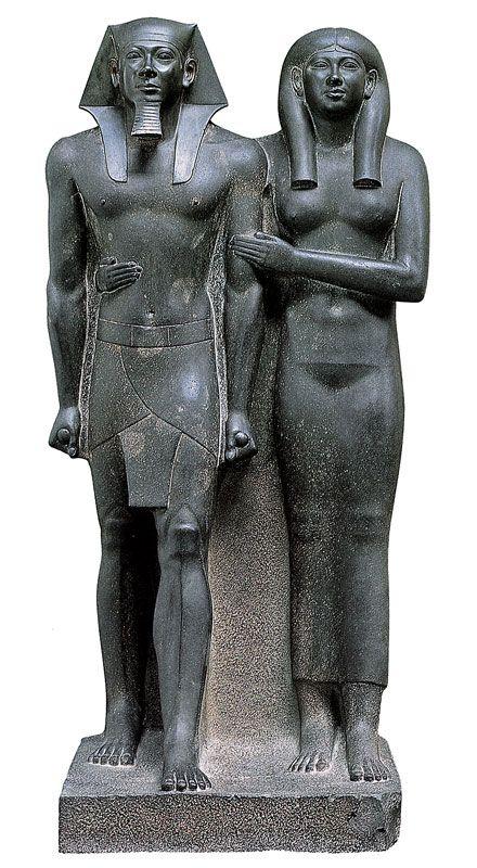 Micerino in compagnia della moglie Khamerer-Nebti