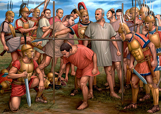 Umiliazione subito dai soldati Romani